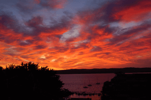 9/10/09 Sunrise Over the Hudson and Tarrytown. Photo Credit: Dave Zornow