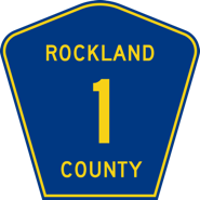 Rockland County Road Sign