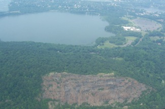 Hook Mtn Rockland Lake, Aerial px, June 2008