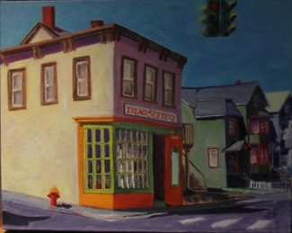'€œHopper on South Franklin Street,'€ by Lita Thorne. It is one of 25 '€œHopperesque'€ inspired images that will be for sale at the 2011 Artst In The Park event at Nyack Beach State Park.