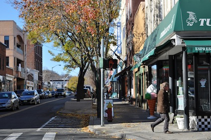 Main Street & Broadway in Nyack, Nov 2010