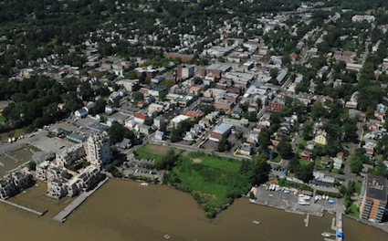Photo: Nyack Aerial photo, post-Hurricane Irene. Credit: Brian Evans