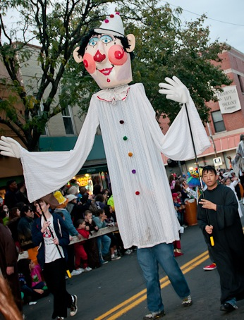 "2010 Nyack Halloween Therese Shorn's ""Festival of Ghouls""  Copyright © 2009 Deborah Grosmark All Rights Reserved"