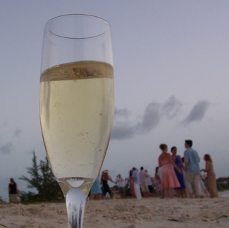 Champagne Glass on Beach. Credit: Dave Zornow 7/3/2004.