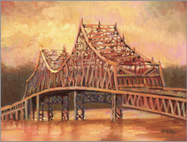 "Tappan Zee Bridge, ""Faithful Lady"" Copright Sue Barrasi, 2011"