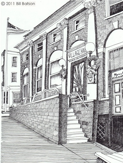 Nyack Village Hall. Copyright Bill Batson, 2011