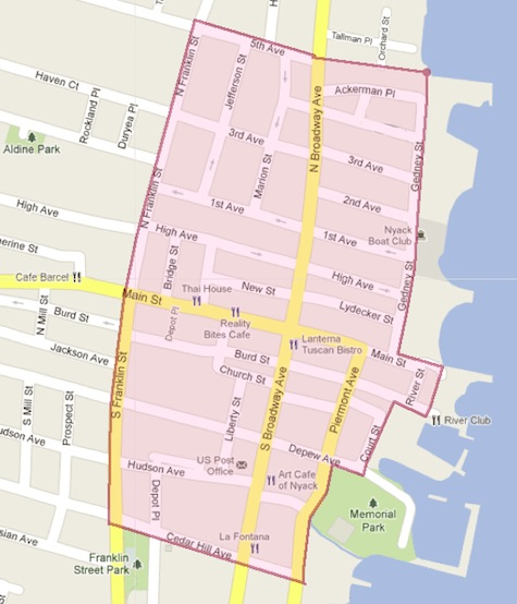 Nyack Snow Emergency Zone, Jan 2012
