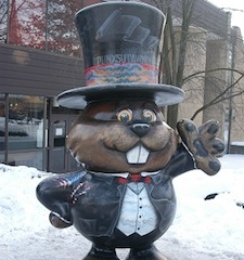 Photo: Statute of Punxsutawney Phil. Credit: Punxsutawney Groundhog Club at GroundHog.org