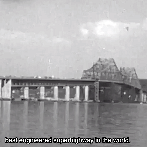Newsreel footage of how the Tappan Zee Bridge looked on opening day in Dec 1955.