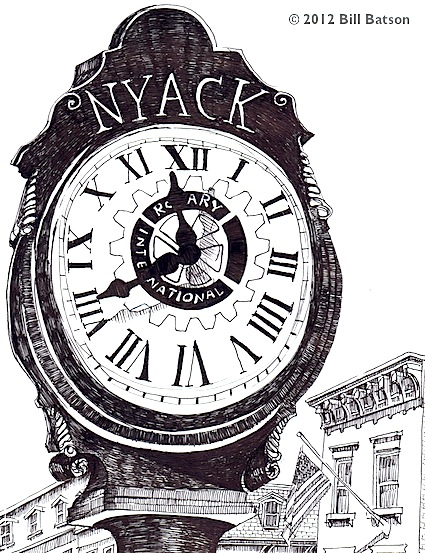Nyack Skech Log: Rotary Clock ©2012 Bill Batson