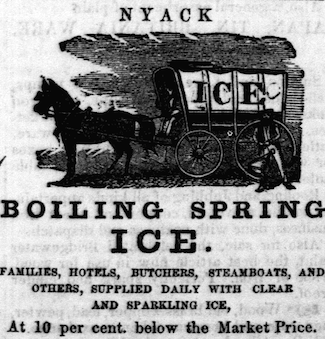 Rockland County Journal, Boiling Springs Ice advertisement