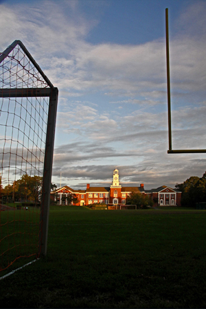 Nyack BOCES (old HIgh School) Goal Post. ©2012 alison perry