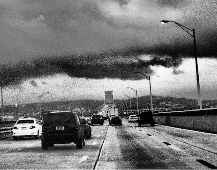 Photo: Tappan Zee Bridge rainstorm Credit: Michael Cammer via Flickr 201207