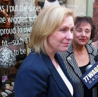 Gillibrand, Lowey Aug 30 2012 at Maria Luisa Boutique