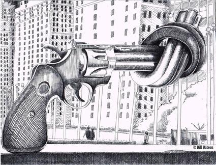 Gun Control Sculpture