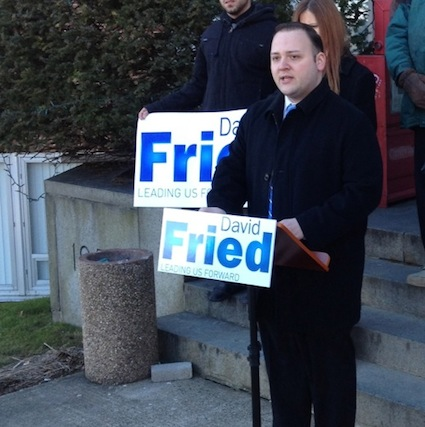 Rockland County Exec Candidate David Fried announces his plan to shrink the Rockland county Legislature on Mon Mar 4.