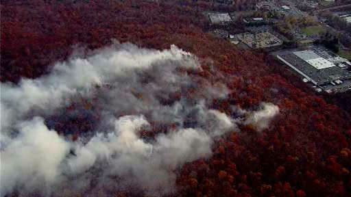 Clausland Mtn Fire, 111/15/2013. Photo Credit: WABC Eyewitness News