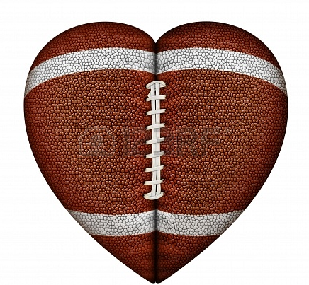 Heartshapped Football