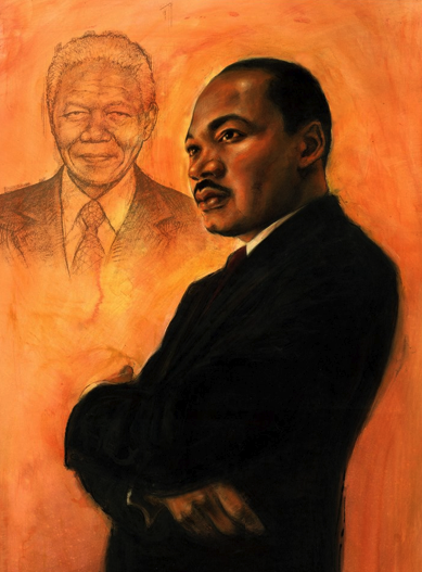 MLK and Mandela_by Janet Hamlin