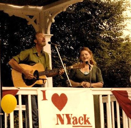 Pete Seeger with Susan Reed at Memorial Park in Nyack, NY. Courtesy Friends Of The Nyacks