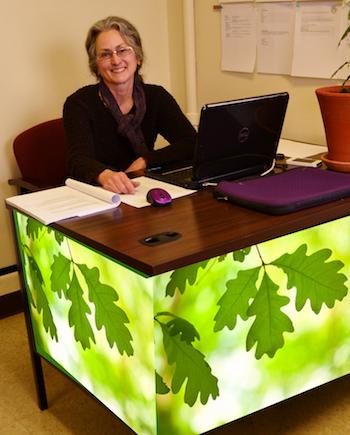 Marcy Denker, Nyack Green Desk 201402