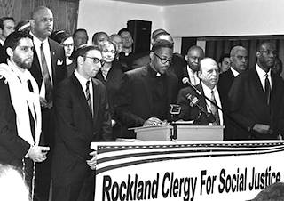 Rockland Clergy for Social Justice press conference at The First Baptist Church in Spring Valley, on 4/8/2014