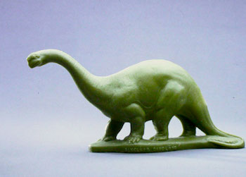 Sinclair Dinoland plastic Brontosaurus,  courtsey of The Childrens Museum of Indianapolis and Wikipedia