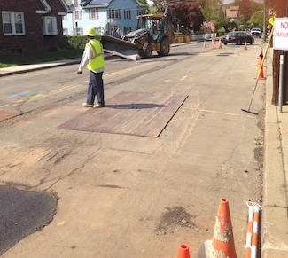 O&R BWay Gas Main work, 201405