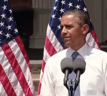 President Barrack Obama speaks at Georgetown University in June 2013