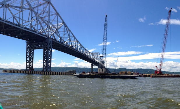 TZC Barge Tappan Zee Bridge June 2014