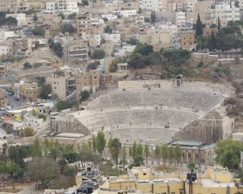 Roman theater in Amman, Jordan 2007  ©2014 Niels Elgaard Larsen