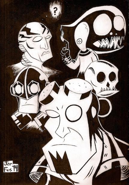 Hellboy Pinup