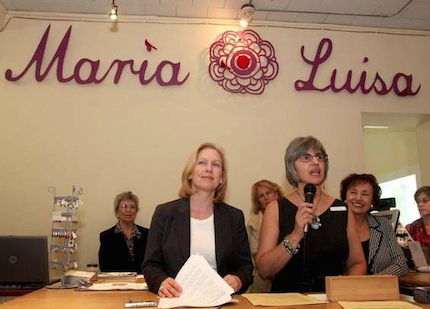 Maria with Senator Gillibrand