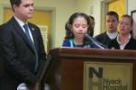 Lauren Shields, NYS Senator David Carlucci at Nyack Hospital on March 7 2011