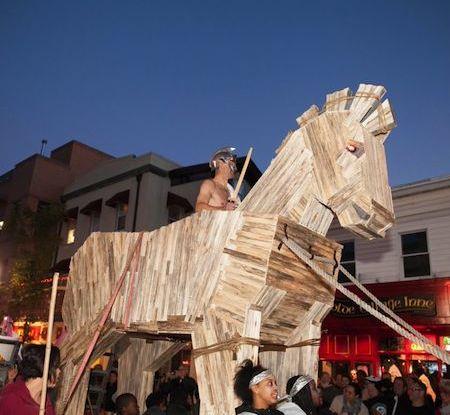 Trojan Horse at 2013 Nyack Halloween Parade