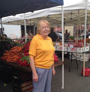 Joan at the market