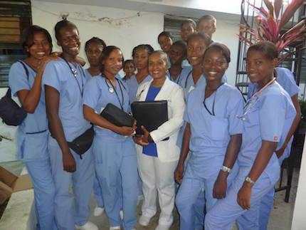 Teaching at FSIL Nursing School in Leogane, Haiti
