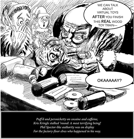 Cartoon by Dan White ©2014  dw_XmasStress_2of4
