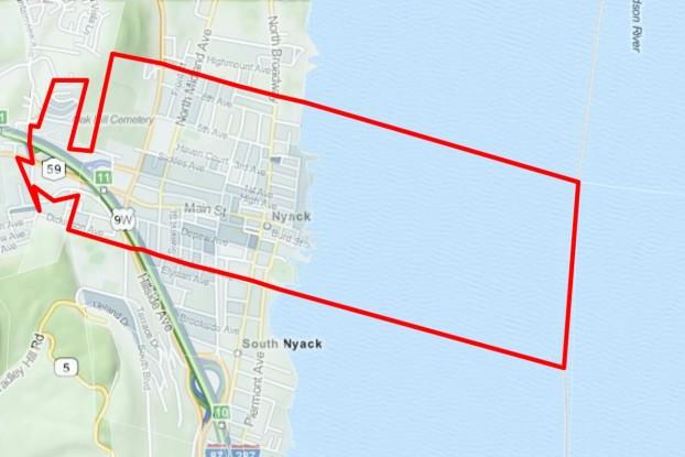 Nyack area map