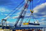 I Lift NY Crane First Girder Lift, 2015-06-17. Photo Credit: Evan Ramos
