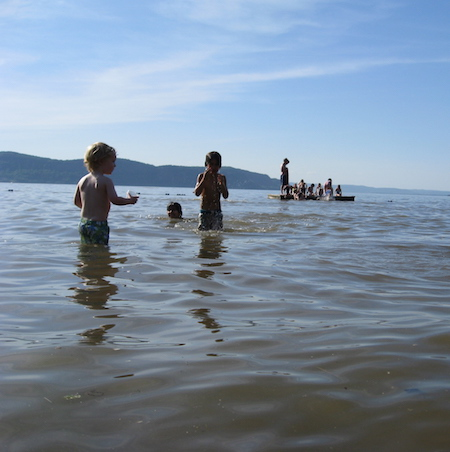 Children swimming at Croton Point.  Photo credit: Riverkeeper