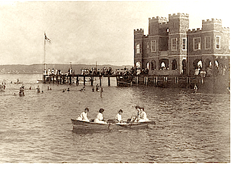Piermont's Fort Comfort resort, circa 1908. Photo credit: Courtesy Piermont Library