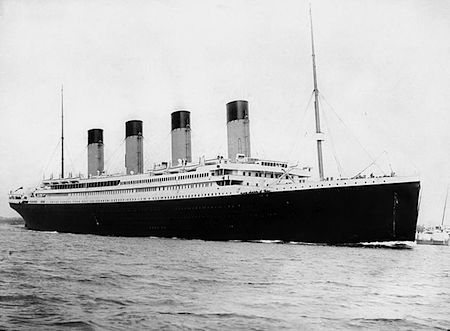 RMS Titanic by F.G.O. Stuart (1843-1923)  via Wikipedia
