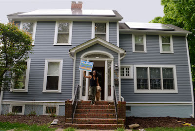 South Nyack's Nicole Barbatos is already happily solar. Photo: Marcy Denker