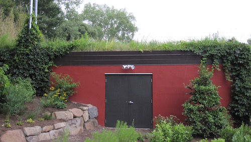 Green roof on pump house at Rockland Country Club