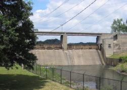 Lake DeForest spillway