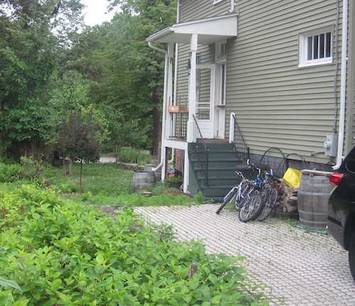 Rain barrels at a Sparkill residence