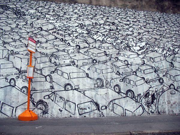 by the Italian street artist, Blu