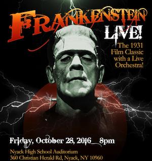 Frankenstein Live 10/28/2016, ArtsRock Arts Angels, Rivertown Film