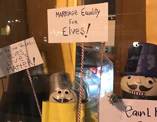 Santa Causes by Ed Kirkland, Nyack Window Project